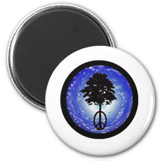 Fluid of Peace 2 Inch Round Magnet