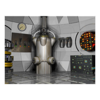 Fluid Reactor Propulsion Chamber ~print~ Poster