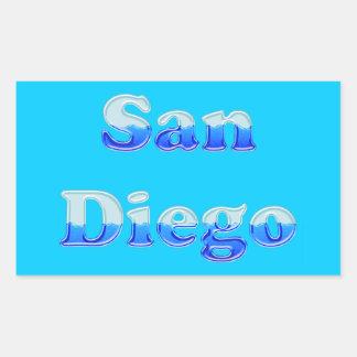 Fluid San Diego - On Aqua Rectangular Sticker