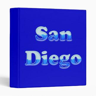 Fluid San Diego - On Blue 3 Ring Binder