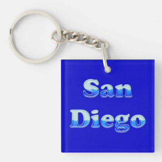 Fluid San Diego - On Blue Keychain