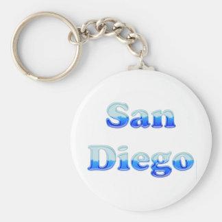 Fluid San Diego - On White Keychain