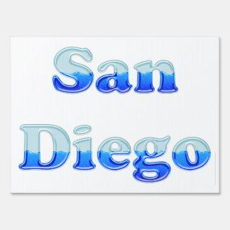 Fluid San Diego - On White Lawn Sign