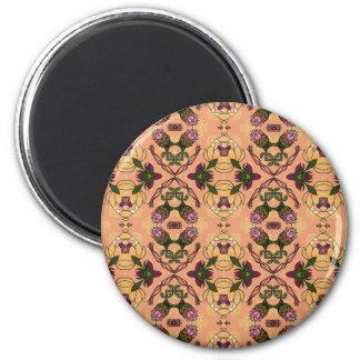 fluid w leaf bkgrnd-102405 mousepad 2 inch round magnet