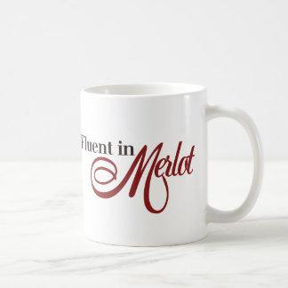Fluido en Merlot Taza De Café