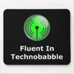 Fluido en Technobabble Alfombrillas De Ratón