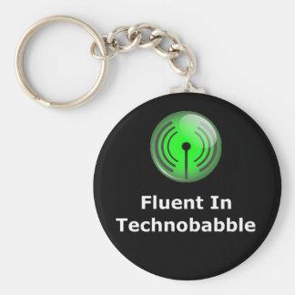 Fluido en Technobabble Llavero Redondo Tipo Pin