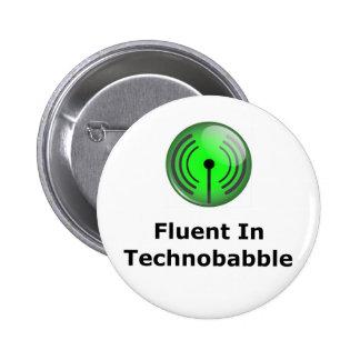 Fluido en Technobabble Pin Redondo De 2 Pulgadas