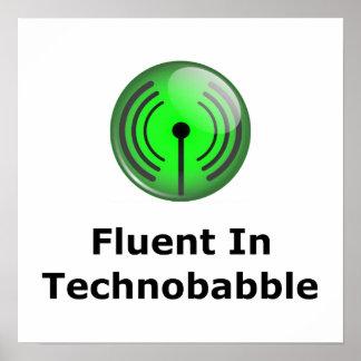 Fluido en Technobabble Póster