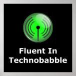 Fluido en Technobabble Posters