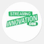 Fluir la innovación pegatinas redondas