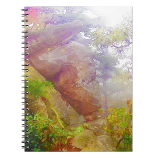 Fluir luz del sol en bosque cuadernos