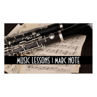 Fluit Lessons Music  Instruments Instructor Double-Sided Standard Business Cards (Pack Of 100)