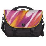 Flujo abstracto - amarillo púrpura bolsas de portatil