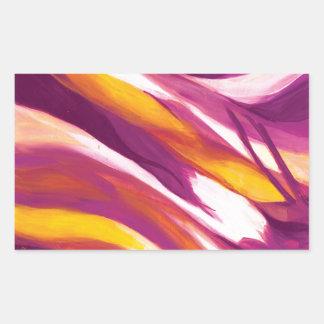 Flujo abstracto - amarillo púrpura rectangular altavoz