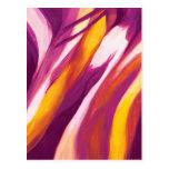 Flujo abstracto - amarillo púrpura postal