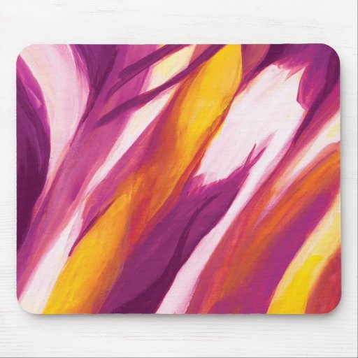 Flujo abstracto - amarillo púrpura alfombrilla de ratón