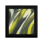 Flujo abstracto - gris amarillo caja de recuerdo