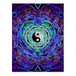 Flujo de energía de Yin Yang Postales