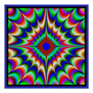 Flujo de explosiones del color póster