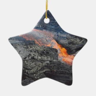 Flujo de lava de Kilauea Adorno Navideño De Cerámica En Forma De Estrella