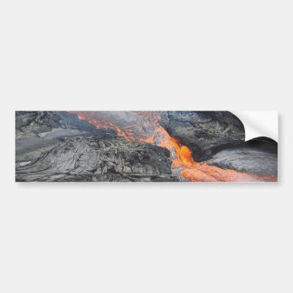 Flujo de lava de Kilauea Pegatina De Parachoque