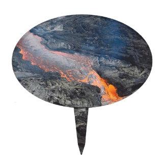 Flujo de lava de Kilauea Figura Para Tarta