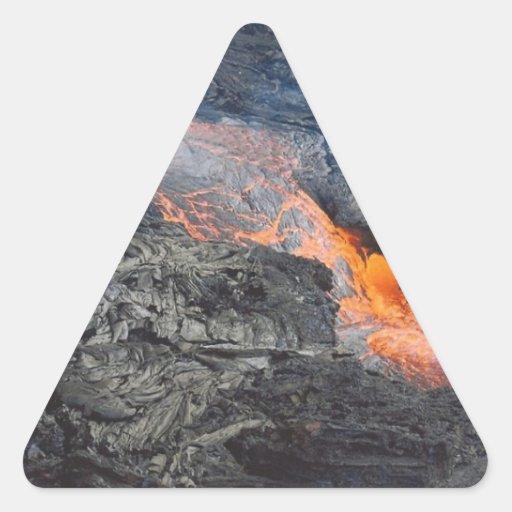 Flujo de lava de Kilauea Colcomanias De Trianguladas