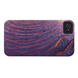 Flujo de lava de Pahoehoe del volcán de Kilauea Case-Mate iPhone 4 Carcasa