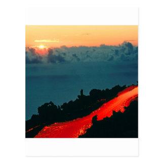 Flujo de lava de Reunion Island del volcán 1975 Tarjeta Postal