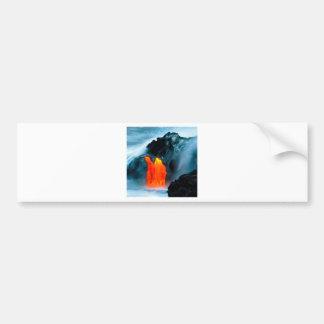 Flujo de lava del volcán de Kilauea Hawaii Pegatina De Parachoque