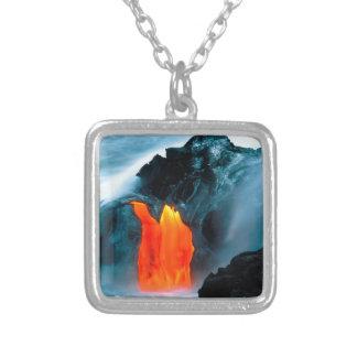 Flujo de lava del volcán de Kilauea Hawaii Colgante Cuadrado