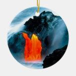 Flujo de lava del volcán de Kilauea Hawaii Ornamento De Navidad
