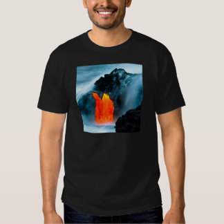 Flujo de lava del volcán de Kilauea Hawaii Polera