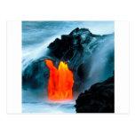 Flujo de lava del volcán de Kilauea Hawaii Postales
