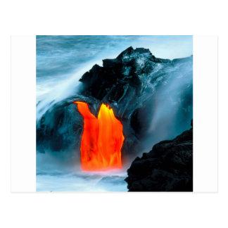 Flujo de lava del volcán de Kilauea Hawaii Tarjeta Postal