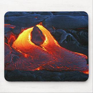 Flujo de lava gemelo - Hawaii, la isla grande Alfombrillas De Raton