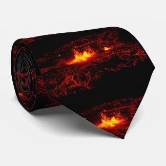 Flujo de lava hawaiano corbata personalizada