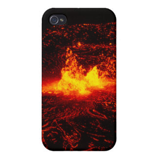 Flujo de lava hawaiano iPhone 4 funda