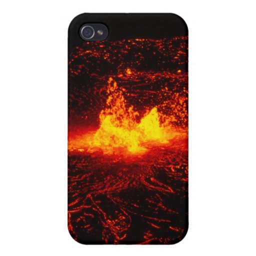 Flujo de lava hawaiano iPhone 4 funda