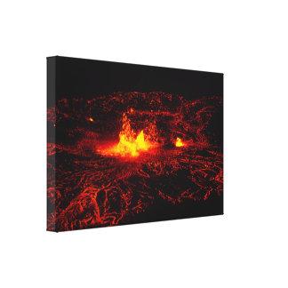 Flujo de lava hawaiano impresión en lona estirada