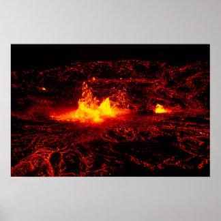 Flujo de lava hawaiano póster