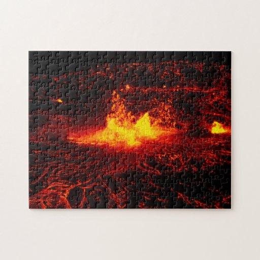 Flujo de lava hawaiano rompecabezas con fotos
