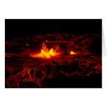 Flujo de lava hawaiano tarjeton