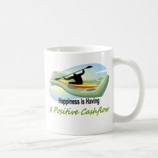 Flujo de liquidez positivo tazas de café
