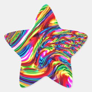 Flujo de love_ pegatina en forma de estrella