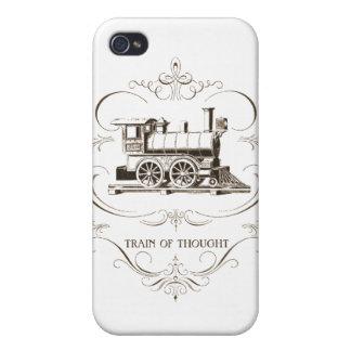 Flujo de pensamiento del vintage iPhone 4 fundas