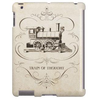 Flujo de pensamiento del vintage funda para iPad