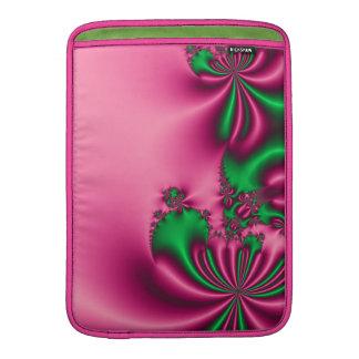 Flujo del rosa y del verde fundas MacBook