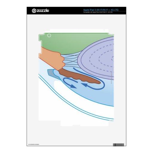 Flujo flúido en glaucoma crónico iPad 3 pegatina skin